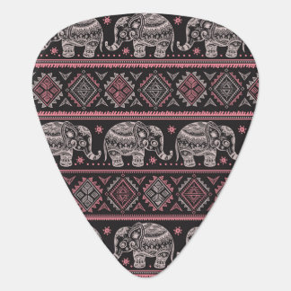 Black Ethnic Elephant Pattern Guitar Pick