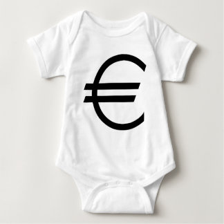 black euro sign baby bodysuit