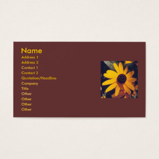 Black-eye susans -business card template