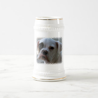 Black Eyed Boxer Dog Beer Stein