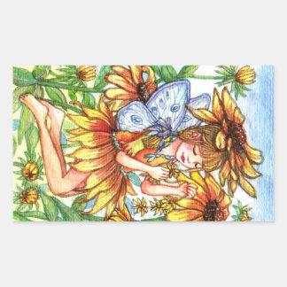 Black-eyed Susan Fairy Sticker