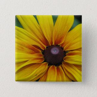 Black Eyed Susan Flower Square Pin