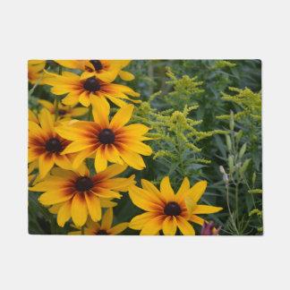 Black eyed susan flowers doormat