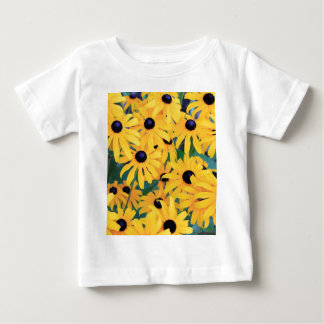 Black Eyed Susan Flowers in Deep Yellow Baby T-Shirt