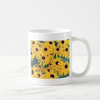 Black Eyed Susan Flowers in Deep Yellow Coffee Mug
