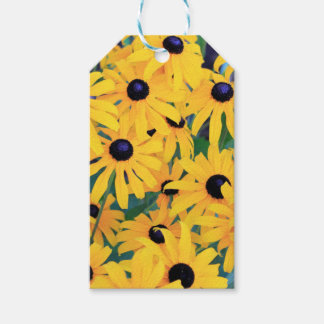 Black Eyed Susan Flowers in Deep Yellow Gift Tags