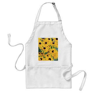 Black Eyed Susan Flowers in Deep Yellow Standard Apron