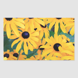 Black Eyed Susan Flowers in Deep Yellow Sticker