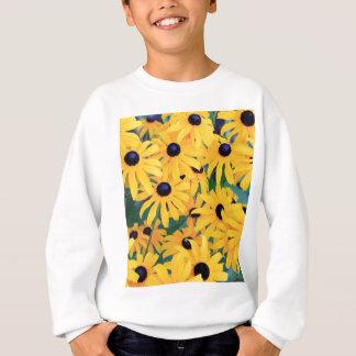 Black Eyed Susan Flowers in Deep Yellow Sweatshirt