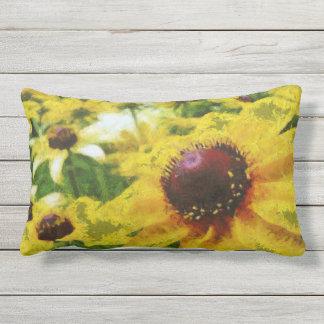 Black Eyed Susan Fun Yellow Summer Floral Outdoor Pillow