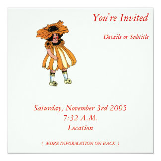 "Black-Eyed Susan 5.25"" Square Invitation Card"