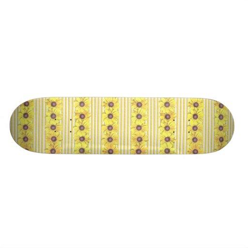 Black Eyed Susan Stripes Skateboard Deck