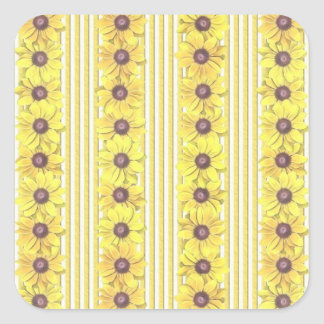Black Eyed Susan Stripes Square Sticker