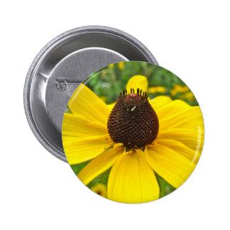 Black-Eyed Susan Wildflowers 2 Inch Round Button