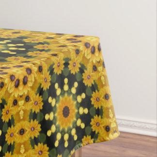 Black-eyed Susans 02.2, Floral mandala-style Tablecloth