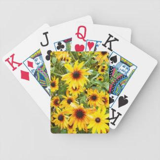Black Eyed Susans Bicycle Playing Cards