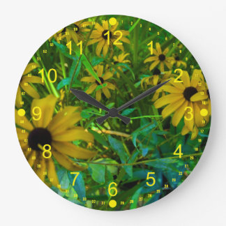 Black-Eyed Susans Clocks