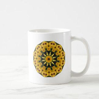 Black-eyed Susans,  Floral Mandala Coffee Mug