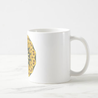 Black-eyed Susans,  Floral Mandala Coffee Mug