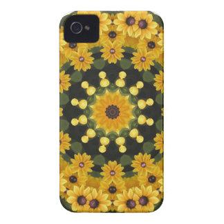 Black-eyed Susans,  Floral Mandala iPhone 4 Covers