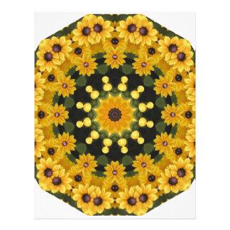 Black-eyed Susans,  Floral Mandala Letterhead