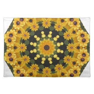 Black-eyed Susans,  Floral Mandala Placemat