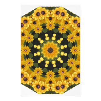 Black-eyed Susans,  Floral Mandala Stationery