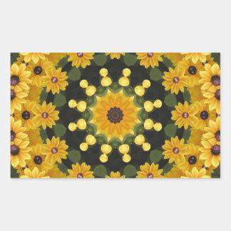 Black-eyed Susans,  Floral Mandala Sticker