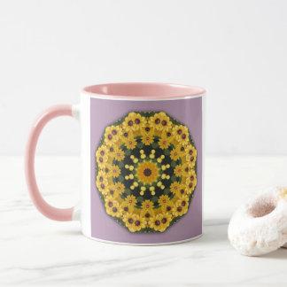 Black-eyed Susans, Floral mandala-style Mug