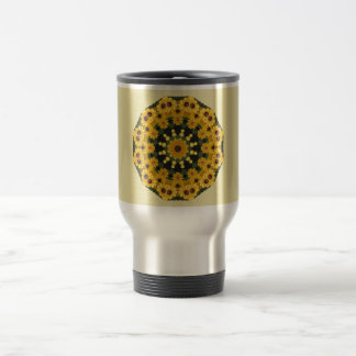 Black-eyed Susans,  Floral Mandala Travel Mug