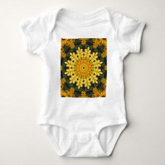 Black-eyed Susans Nature, Flower-Mandala Baby Bodysuit