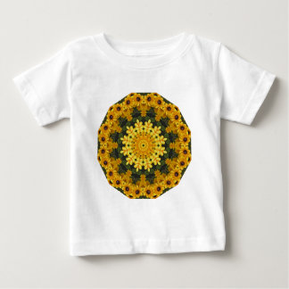 Black-eyed Susans Nature, Flower-Mandala Baby T-Shirt