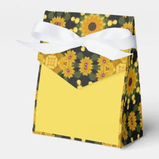 Black-eyed Susans Nature, Flower-Mandala Favor Box