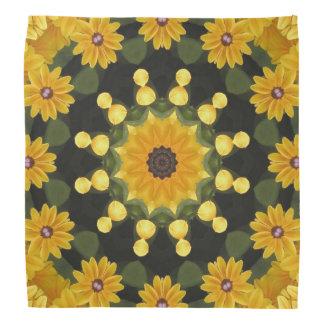 Black-eyed Susans Nature, Flower-Mandala Kerchiefs