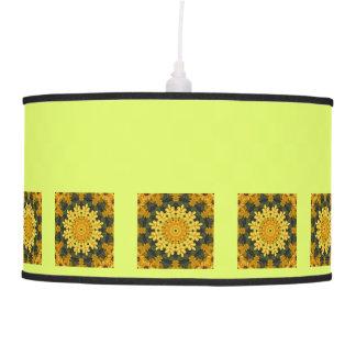 Black-eyed Susans Nature, Flower-Mandala Pendant Lamp