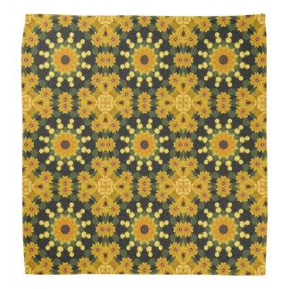 Black-eyed Susans Nature, mandala style Kerchiefs