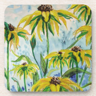 Black eyed suzans in Watercolor Coaster