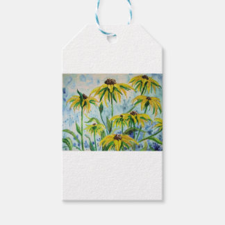 Black eyed suzans in Watercolor Gift Tags