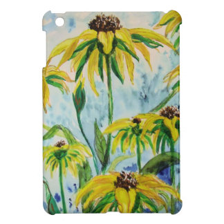 Black eyed suzans in Watercolor iPad Mini Cover