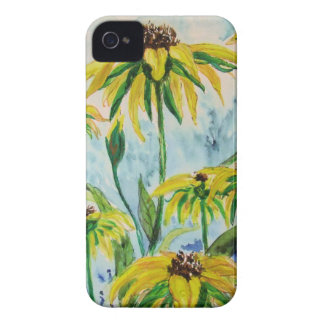 Black eyed suzans in Watercolor iPhone 4 Covers