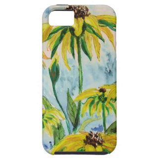 Black eyed suzans in Watercolor iPhone 5 Case