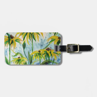 Black eyed suzans in Watercolor Luggage Tag