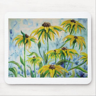 Black eyed suzans in Watercolor Mouse Pad