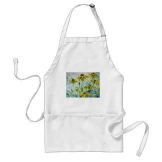 Black eyed suzans in Watercolor Standard Apron
