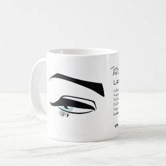 Black Eyeliner blue eye henna make up icon Coffee Mug
