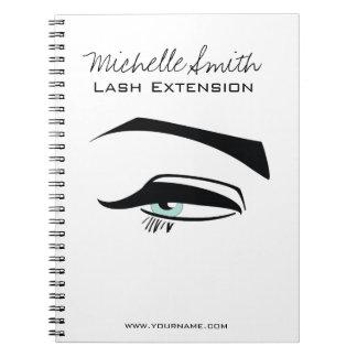 Black Eyeliner blue eye henna make up icon Notebooks