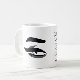 Black Eyeliner lash extension henna make up icon Coffee Mug