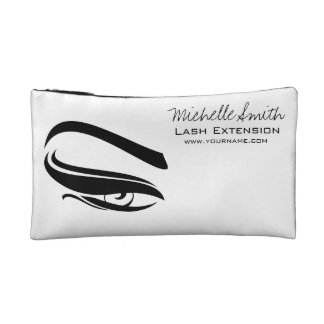 Black Eyeliner lash extension henna make up icon Cosmetic Bag