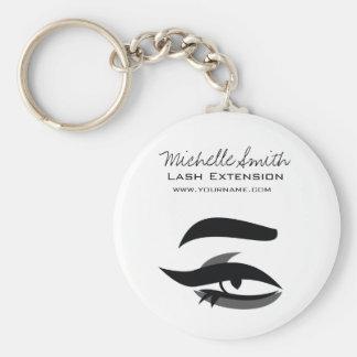 Black Eyeliner lash extension henna make up icon Keychain