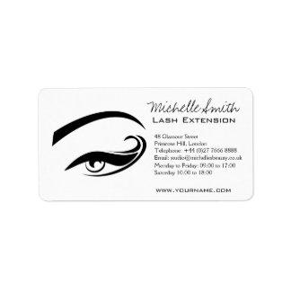 Black Eyeliner lash extension henna make up icon Label